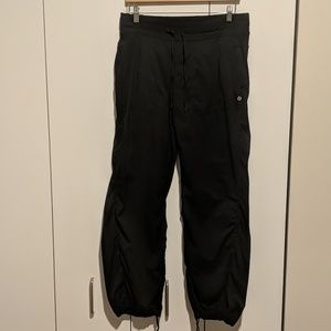 Lululemon black dance studio pants size 12